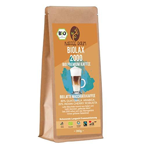 BIOLAX 2000 von Kaffeebaum | BIO Latte Macchiato Premium Kaffee | Arabica | Indian Cherry Robusta | Filterkaffee | Kaffeegenuss aus Guatemala und Indien | Kaffee gemahlen 150g | BIO-Qualität