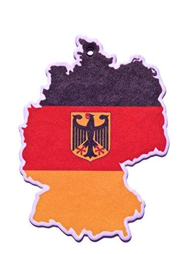 Désodorisant voiture auto drapeau Allemagne Odeur Citron
