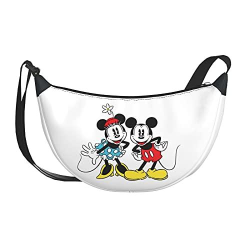 Bolso bandolera para mujer, mochila de Mickey Mouse para compras diarias con correa larga desmontable, color, talla Talla única