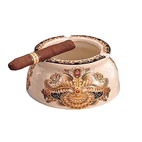 KEKEYANG Moderno Decoraciones del Arte del Arte Oficina en el hogar de cerámica pequeños cenicero - White_F Viento
