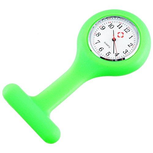 outletissimo Reloj Médico Enfermero enfermera Verde Neón de Silicona Con imperdible de imperdibles