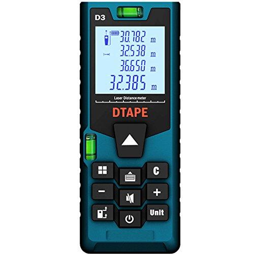 Tutoy Dtape D3 Digital 40M 60M 80M 100M Entfernungsmesser Einzelne Durchgehende Fläche/Volumen/Pythagoras Messung-60M