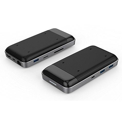 HYPER HD258B HyperDrive 7.5W draadloze oplader USB-C hub zwart