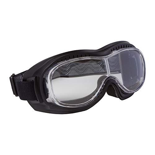 PiWear Motorradbrille Schutzbrille Toronto, schwarz mit klarem Glas