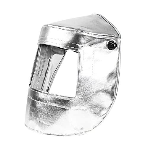 Baoblaze Casco de soldadura de papel de aluminio Capucha de alta visibilidad PC Lente Soldador Casco de seguridad Casco de soldadura de Gas Sombrero protector