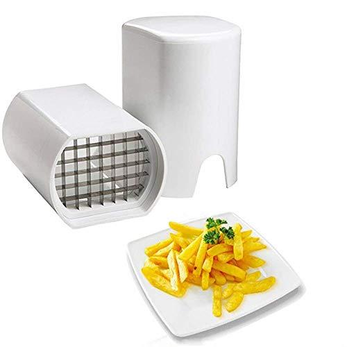 Coupe-pommes de terre, coupe-friture, hachoir avec 2 lames de rechange en acier inoxydable et pieds...