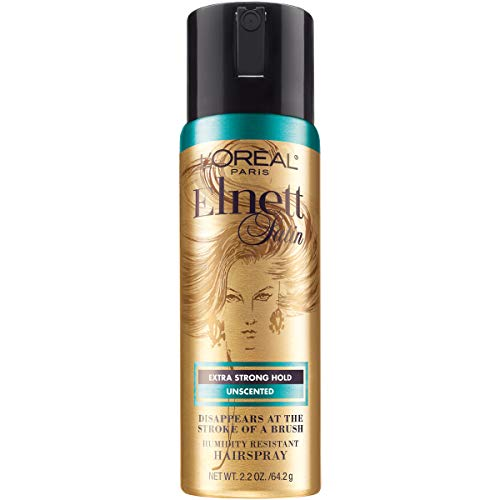 L'Oreal Paris Elnett Hair Care Elnett Satin Extra Strong Hold Hairspray - Unscented, Long Lasting + Humidity Resistant, Hair Styling Spray, 2oz