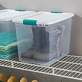 Sterilite 25 Qt./24 L Latching Box Clears, Quart, White, 6 Piece