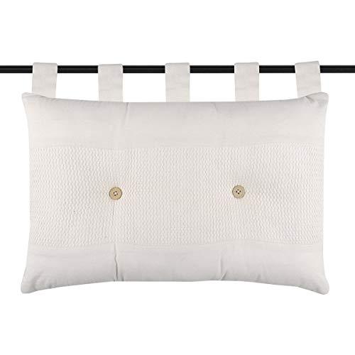 marque Lovely Casa Tête de lit 45x70 cm Elisabeth Naturel 100% Coton