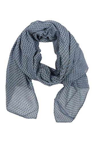 Zwillingsherz Seiden-Tuch im trendigem Design - Hochwertiger Schal für Damen Mädchen - Halstuch - Umschlagstuch – Pashmina - Loop - weicher Schlauchschal für Frühjahr Sommer Herbst Winter - blau