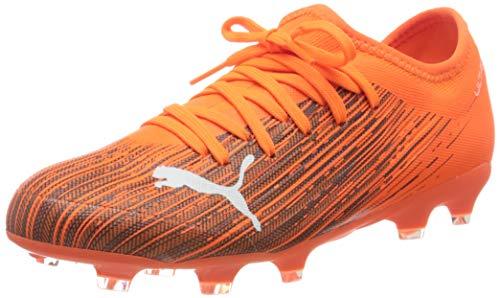 PUMA Ultra 3.1 FG/AG Jr, Zapatillas de fútbol Unisex Niños, Naranja (Shocking Orange Black), 34 EU