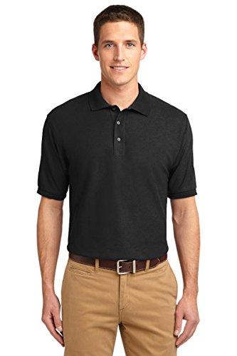 Port Authority Men's Silk Touch Polo XL Black