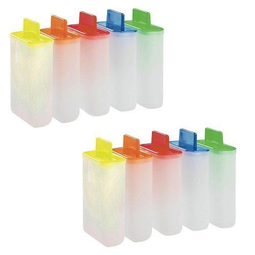 versandfuxx24 - 10 Eis am Stiel Formen / Stieleisformer aus Kunststoff