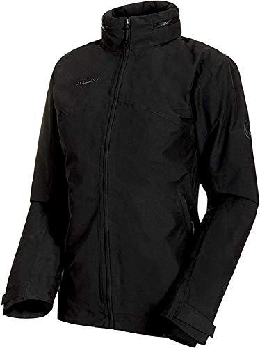 Mammut Damen 3in1 Trovat Hooded Hardshell-Jacke mit Kapuze, Black-Black, L