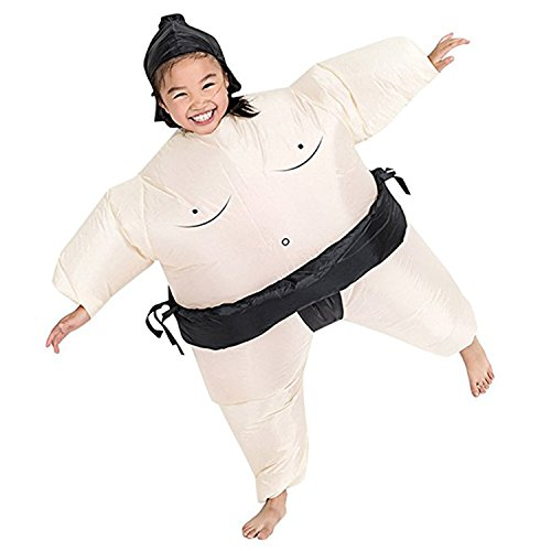 Wecloth Inflatable Suit Wrestler Wrestling Suits Colorful Sumo Inflatable Costume Bodysuit for Adult Child Black