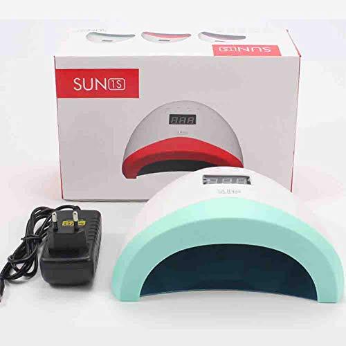 Lampes UV Sèche-ongles à haute puissance Double source de lumière Induction intelligente Pas la lumière du soleil à la main noire pour toute la colle pour ongles 110 / 240v