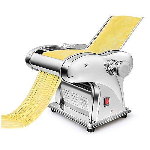 Automatische elektrische Nudelmaschine Kommerzielle Spaghetti Maker Nudelmaschine 135W Edelstahl Teig Lasagne Cutter Knödel Walze 6 Geschwindigkeit 0,3-4mm einstellbare Dicke