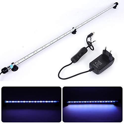 MLJ LED Aquarium Lighting Luce di Pesce Drago Illuminazione per Acquario Impermeabile (Deutschland Lagerhaus) (92cm, Bianco e Blu)