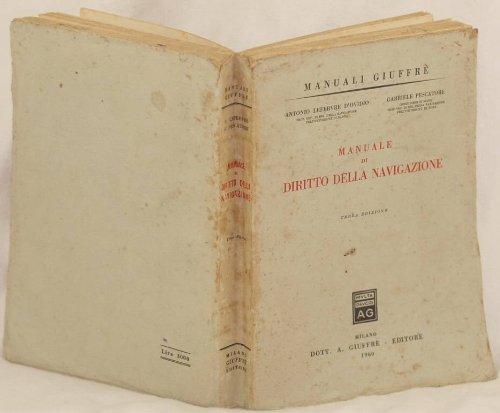 manuale di diritto della navigazione