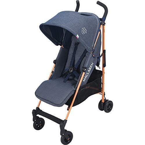 Maclaren Quest Silla de paseo para bebé, asiento multiposición, capota extensible con UPF 50+, suspensión en las 4 ruedas, hasta los 25 kg, color Azul (denim indigo)