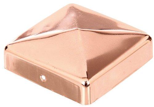 GAH-Alberts 217297 Pfostenkappe für Holzpfosten, flache Form, Kupfer, 90 x 90 mm / 1 Stück