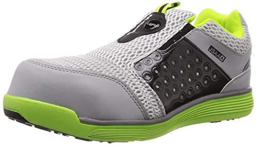 [マルゴ] 安全靴 作業靴 樹脂先芯 軽量 JSAA A種 耐油 4E マンダムセーフティーLight 767 ライム/グレー 30 cm