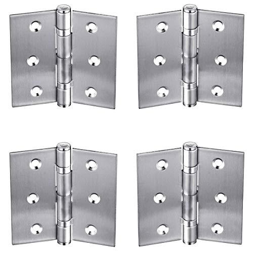 Bisagra plegable para puertas de armario, 4 bisagras para puertas de armario, 6,35 cm