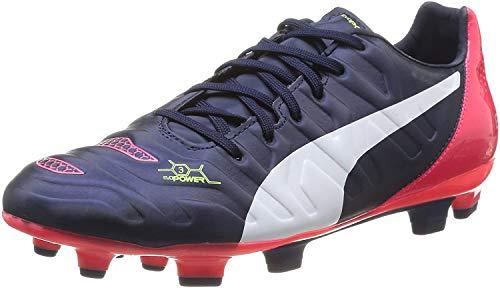 Puma Evopower 3.2 FG, Botas de fútbol para Hombre, Azul-Blau (Peacoat-White-Bright Plasma 01), 42 EU