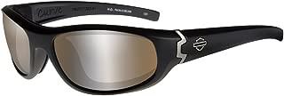 Harley-Davidson Men's Curve PPZ Sunglasses, Copper Lens/Black Frame HDCUR07