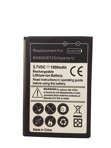 Todobarato24h Bateria de Reemplazo Compartible con Sony Xperia U ST25i BA600 (3,7 V, 1800 mAh)