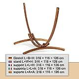 Ampel 24 Outdoor Hängemattengestell 316 cm, Holz Lärche wetterfest, Gestell Malaysia braun ohne Hängematte - 6