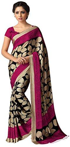 Jaanvi Fashion - Sari - para mujer Beige beige Talla única