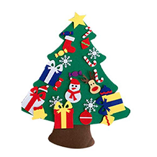 Felt Christmas Tree with 14pcs Detachable Ornaments for Kids Xmas Gifts DIY Ornaments Felt Christmas