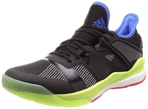 adidas Stabil X, Zapatillas de Balonmano Hombre, Negro (Core Black/Core Black/Hi/Res Yellow Core Black/Core Black/Hi/Res Yellow), 42 EU