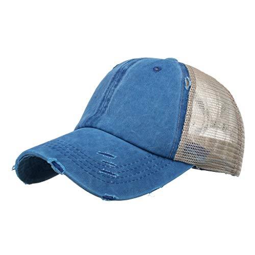 jieGorge Unisex Men Women Solid Color Sun Hat Adjustable Baseball Cap Hip Hop Hat, Hat, Clothing Shoes & Accessories (Blue)