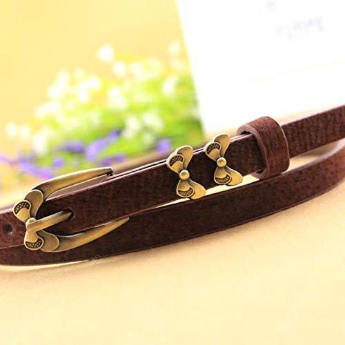 Cinturón Cinturón De Mujer, Cinturón De Hebilla con Pasador De Aleación Retro, Cinturón Decorativo Casual Delgado para Mujer Fcoffee