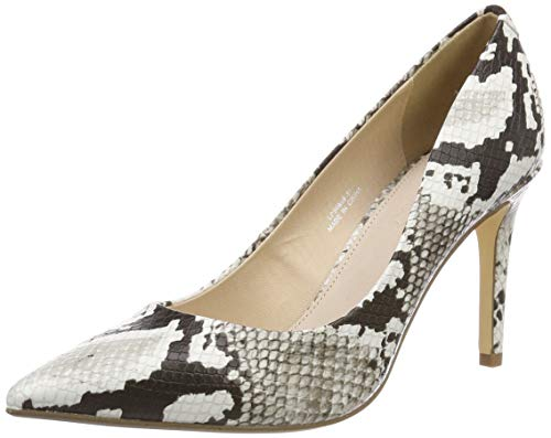 Buffalo Damen Amani Pumps, Mehrfarbig (Natural Snake 000), 39 EU