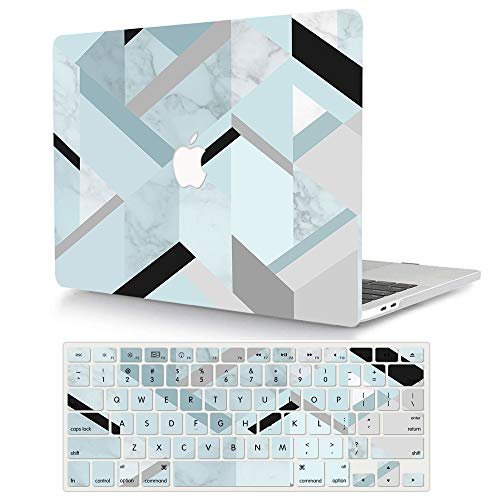 ACJYX Case Compatible with MacBook Pro 13 inch A1278 with CD-ROM Old Version 2012/2011/2010/2009/2008, Protective Plastic Hard Shell Case Cover & Keyboard Cover Skin, Marble 2