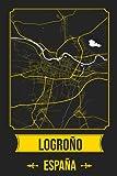 LOGROÑO España Cuaderno: Squareious de la Ciudad de LOGROÑO, Hoja Forrada, Diario 200 PÁGINAS, 6x9