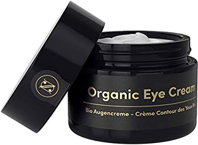 INTRO OFFER Lifting ORGANIC Eye Cream for Dark Circles and Puffy Eyes 30ml – Anti Wrinkle Face Cream with Argan Oil, Aloe Vera, Hyaluronic Acid + Vitamin E – Satin Naturel Skin Care Made in Germany