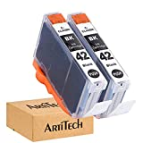 ArtiTech CLI-42 BK Pixma Pro-100 Compatible Ink Cartridges Replacement for Canon CLI42 CLI-42 Black Ink Cartridge Work for Pixma Pro-100S Printers,2 Pack CLI-42 BK