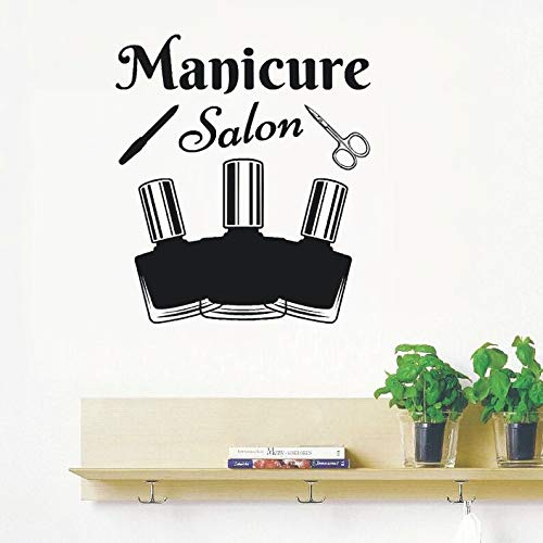 yaonuli manicure-gereedschappen wandtattoo nagellak muurschildering schoonheidssalon decoratie afneembaar vinylbehang