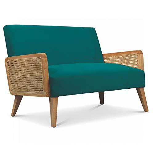Déco en Ligne – Kleines Sofa, Samt, Blau