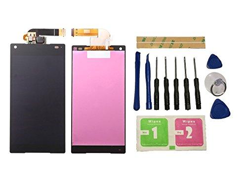 Flügel per Sony Xperia Z5 Compact Mini E5803 E5823 Schermo Display LCD Display Nero Touch Screen Digitizer ( Senza Frame ) di ricambio e Strumenti Gratuiti
