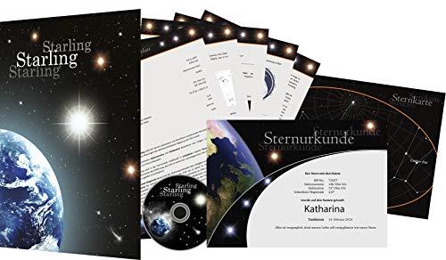 Starling© Sternregister - Einen echten Stern kaufen - Sterntaufe verschenken - Stern benennen (Zodiac)