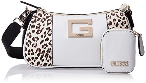 GUESS Shoulder Bag, Top Zip, Leopard Multi