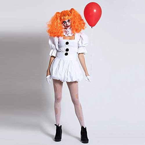 WSJDE Stephen King's It Costume per Donna Ragazza Pennywise Costume Adulto Donna Terrore Costume da Clown per Halloween Fancy Party Dress M