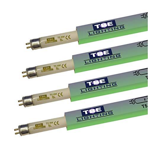 TBE Lighting UV-Fliegenvernichter 8 W – 4 Stück – 8 W BL 368 nm Insektenvernichter – G5 2-poliger Sockel – 288 mm Länge (ohne Stifte)