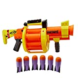 NERF Fortnite GL Rocket-Firing Blaster -- 6-Rocket Drum, Pump-to-Fire -- Includes 6 Official Rockets -- for Youth, Teen, Adult