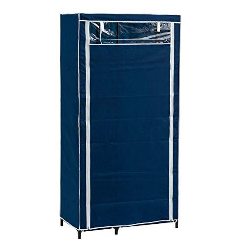 Lola Home Armario de Tela Azul con 5 baldas (Azul)